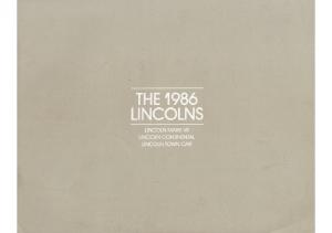 1986 Lincoln Full Line