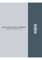 2013 Lincoln Motor Company Briefing Book