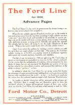 1906 Ford Summary