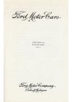 1910 Ford Mode T Souvenir Booklet