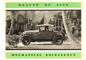 1930 Ford Mechanical Excellence