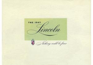1947 Lincoln Full Line