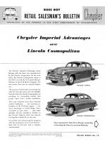 1951 Chrysler Imperial vs Lincoln