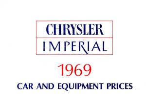 1969 Chrysler Prices