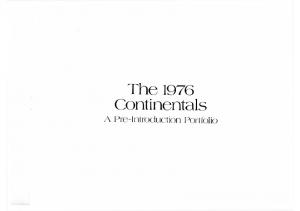 1976 Lincoln Continental Pre Intro