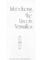 1977 Introducing Lincoln Versalles