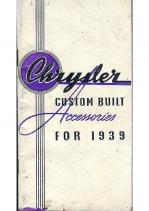 1939 Chrysler Accessories
