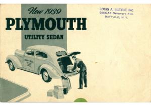 1939 Plymouth Utility Sedan