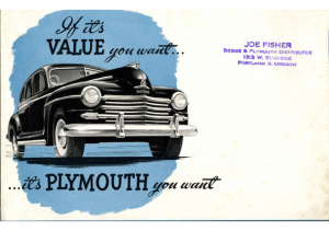 1948 Plymouth Value Finder