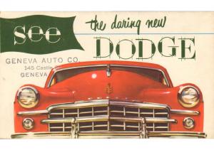 1949 Dodge Foldout