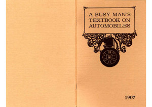1907 Oldsmobile A Busy Mans Textbook