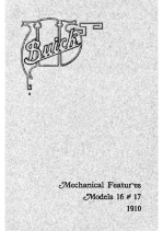 1910 Buick Mechanical Features Models 16-17