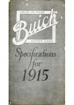 1915 Buick Specs