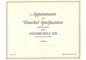 1927 Oldsmobile Interiors