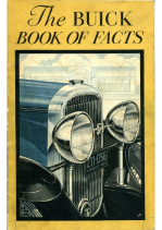 1930 Buick Book of Facts