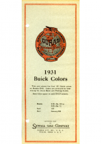 1931 Buick Color Chips