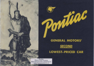 1939 Pontiac Booklet