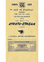 1955 Pontiac Price List