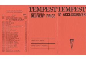 1961 Pontiac Tempest Accessorizer Catalog