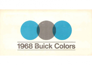 1968 Buick Exterior Colors Chart