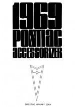 1969 Pontiac Accessorizer Booklet