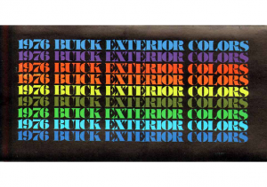 1976 Buick Exterior Colors Chart