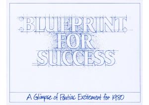 1980 Pontiac Blueprint For Success