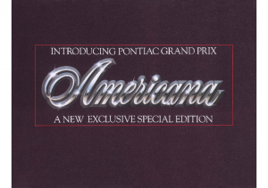 1981 Pontiac Grand Prix Americana