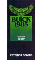 1985 Buick Exterior Colors Skyhawk-Skylark-Rivera