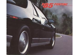 1985 Pontiac Full Line Prestige