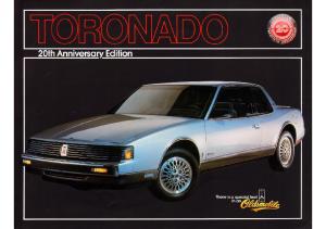 1986 Oldsmobile Toronado 20th Ann Edition