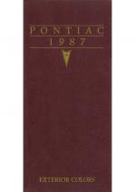 1987 Pontiac Exterior Colors