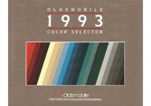 1993 Oldsmobile Colors