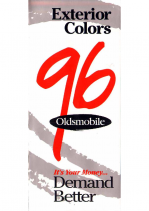 1996 Oldsmobile Full Line Colors