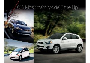 2013 Mitsubishi Full Line