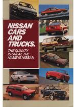 1987 Nissan Full Line