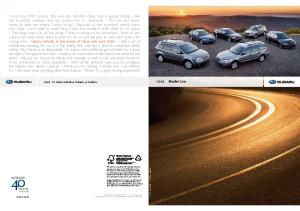 2009 Subaru Full Line