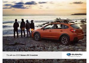 2013 Subaru XV Crosstrek Pre-Launch