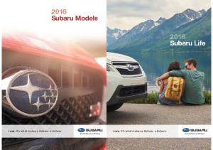2016 Subaru Lifebook