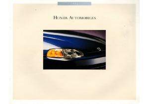 1992 Honda Full Line