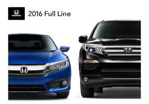 2016 Honda Full Line