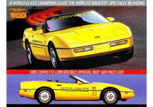 1986 Chevrolet Corvette Pace Car