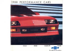 1988 Chevrolet Performance Cars