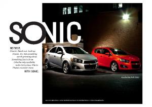 2012 Chevrolet Sonic Intro
