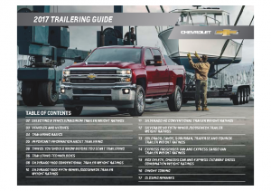 2017 Chevrolet Trailering-Towing Guide