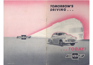 1950 Chevrolet Tomorrows Driving Today