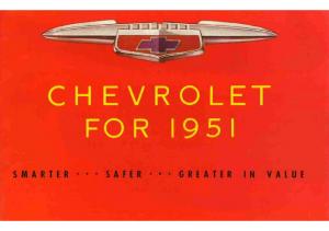 1951 Chevrolet Foldout