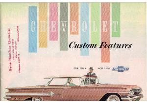 1960 Chevrolet Custom Features
