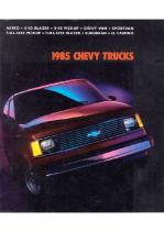 1985 Chevrolet Trucks Full Line