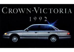1992 Ford Crown Victoria Intro Folder